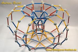 Torusmodel, daß ich mit dem Zometool Geometriebaukasten gebaut habe