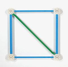 Diagonale im Quadrat mit Zomteool Green Lines