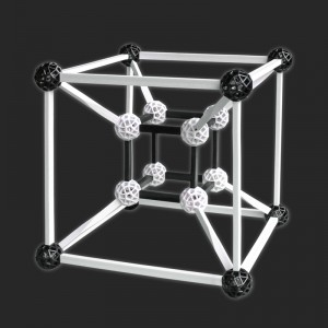 Hypercube gebaut mit Zometool Design 3