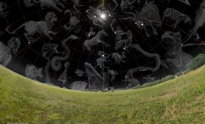 Sirius und Sonne im Zenit