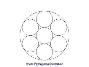 Sieben Kreise in der Blume des Lebens